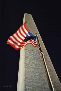 Washington Monument - American Flag