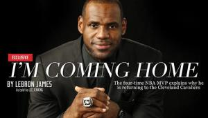LeBron James Returns To Cleveland