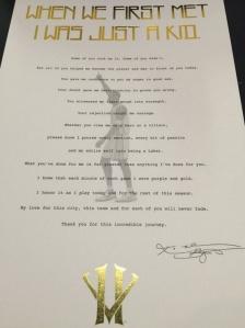 Kobe Bryant Fan Letter