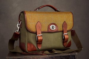 Hawkesmill Jermyn Street Messenger Photo Bag