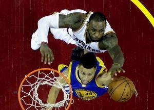 LeBron James Blocks Steph Curry Game 6